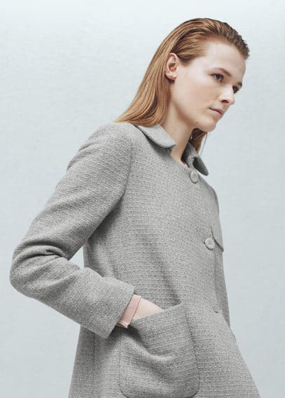 Textured coat | MANGO