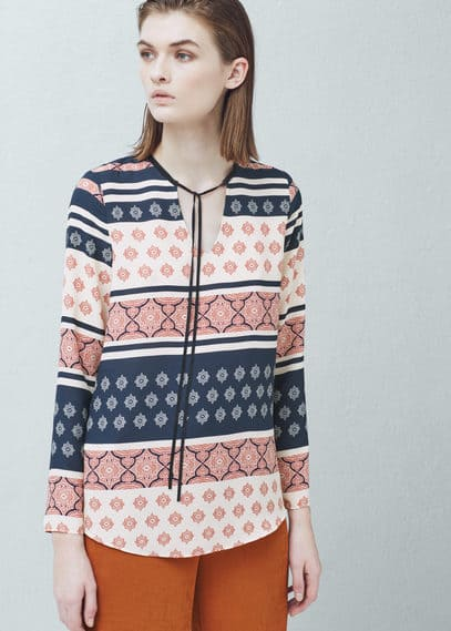 Printed blouse   MANGO