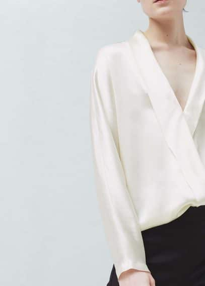 Wrapped silk blouse | MANGO