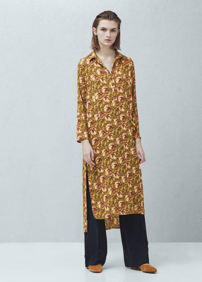 Flowy print blouse | MANGO