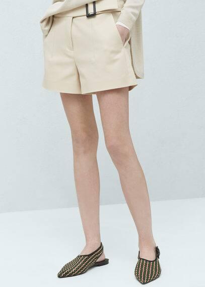 Cotton-blend shorts | MANGO