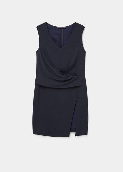 Draped details blouse | VIOLETA BY MANGO