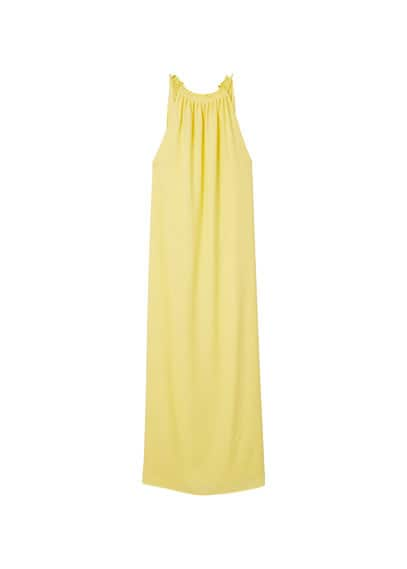 Robe Emmanchures Américaines - Tissu fluide, Emmanchures américaines, Bretelles fines ajustables, Doublure