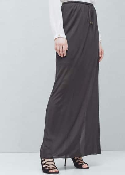 Textured long skirt | MANGO