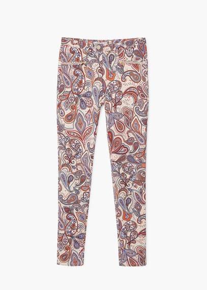 Pantalon imprimé paisley | MANGO