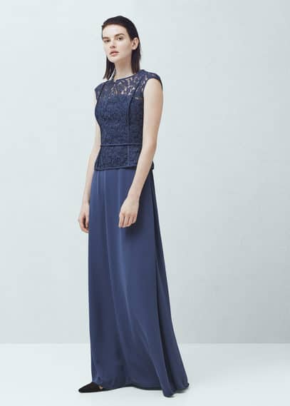 Guipure gown | MANGO