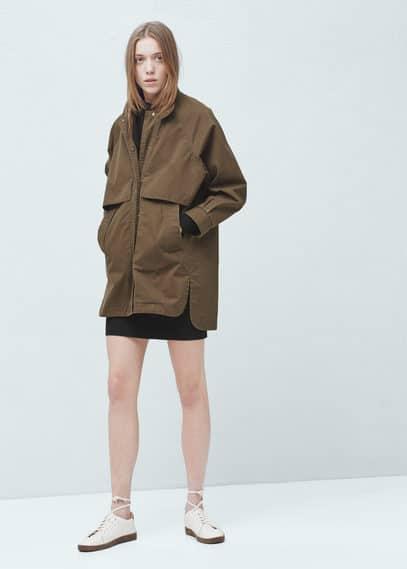 棉质派克大衣 | MANGO