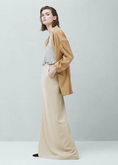 Falda larga cinturón | MANGO