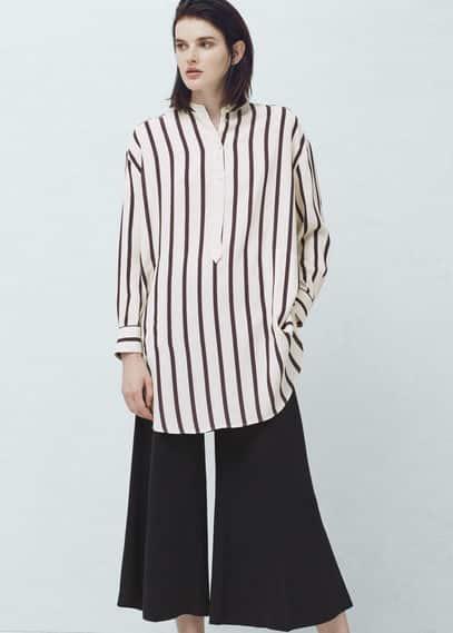 Camisa oversize rayas   MANGO