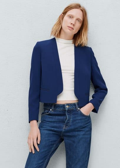 Cotton crop jacket | MANGO