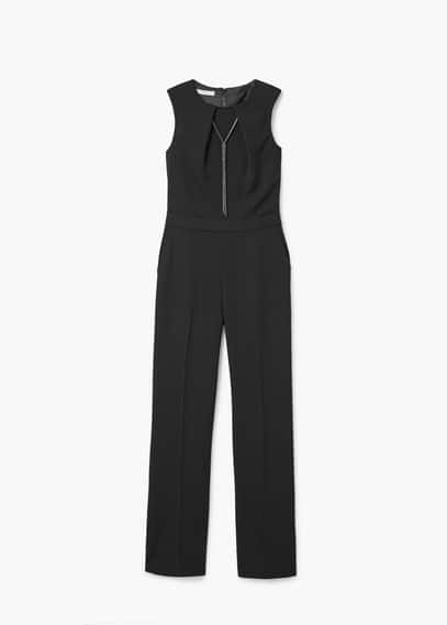 Chain long jumpsuit | MANGO