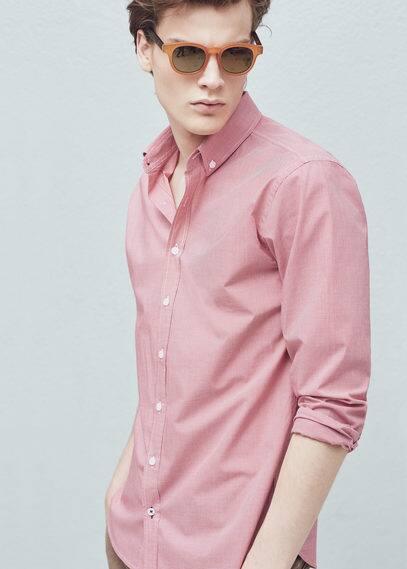 Slim fit hemd mit vichy-karo | MANGO MAN