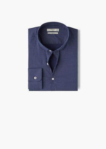 Camisa slim-fit estampado estilo gravata | MANGO MAN