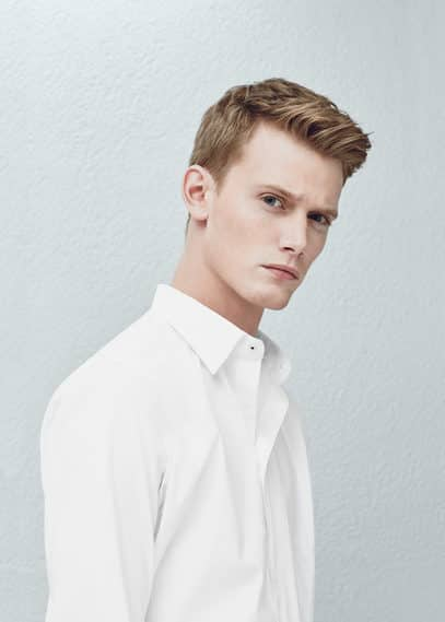 修身棉质衬衫 | MANGO MAN