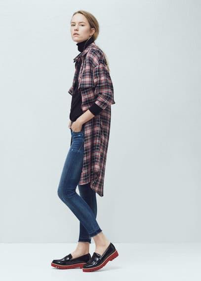 Укороченные джинсы скинни isa | MANGO