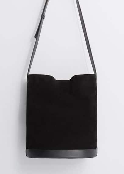 Suede shopper bag | VIOLETA BY MANGO