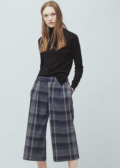 Check palazzo trousers | MANGO