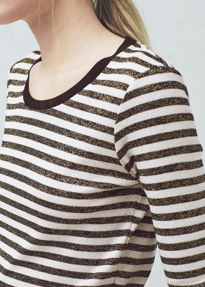 Metallic striped t-shirt | VIOLETA BY MANGO