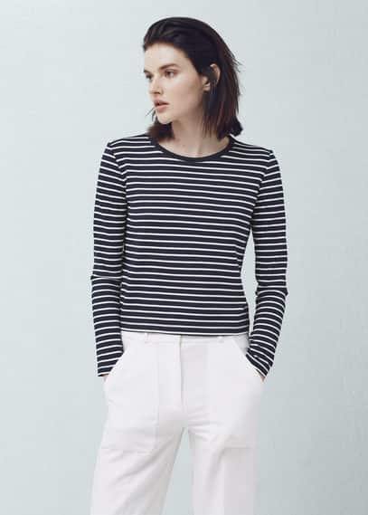Striped t-shirt | MANGO