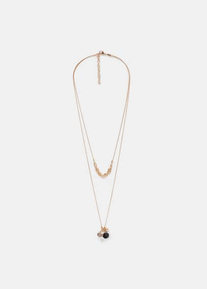 Double chain necklace | VIOLETA BY MANGO