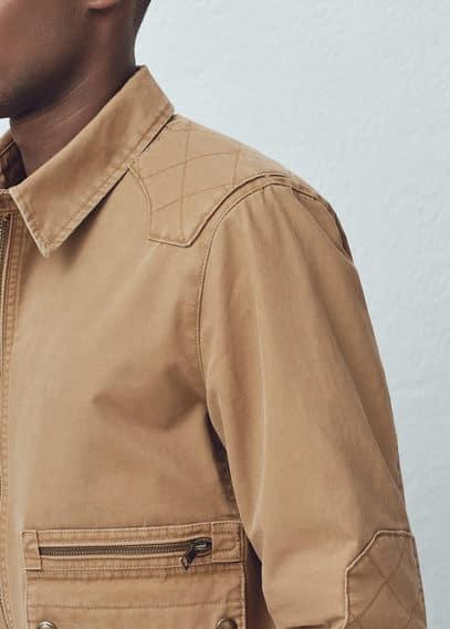 帆布夹克 | MANGO MAN