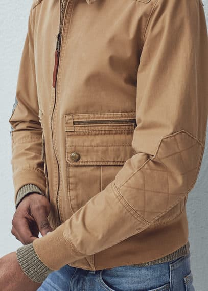 Canvas cotton jacket | MANGO MAN