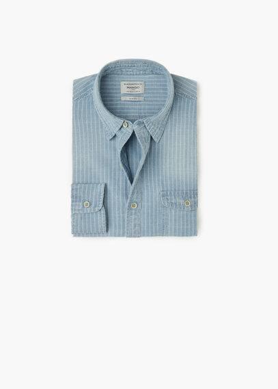 Chemise fil-à-fil rayée | MANGO MAN