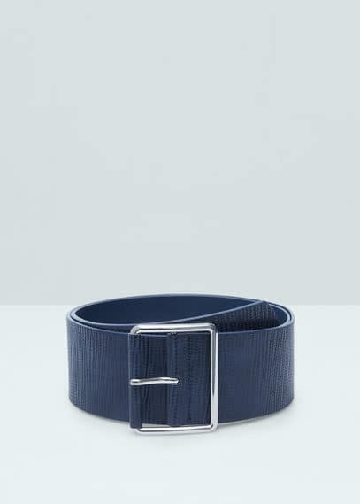 Textured wide belt | MANGO
