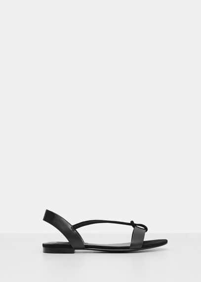 Sandália tiras cordão | VIOLETA BY MANGO