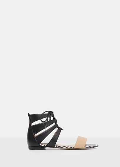 Sandales tressées | VIOLETA BY MANGO
