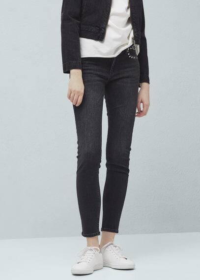 Studs slim-fit jeans | MANGO