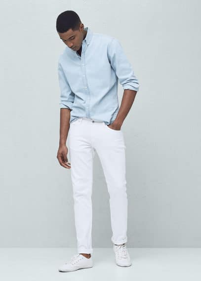 Jean jan slim-fit blanc | MANGO MAN