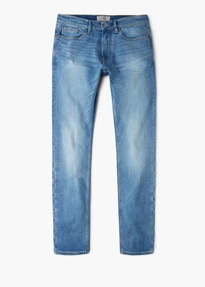 Jeans tim slim-fit lavado claro   MANGO MAN