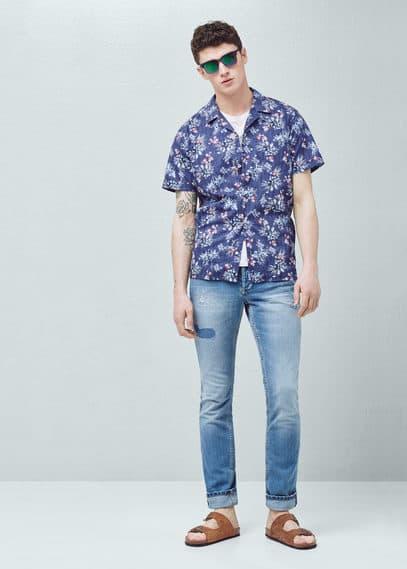 Jeans steve slim-fit lavaggio chiaro | MANGO MAN