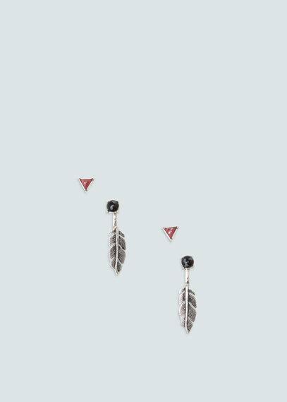 Set boucles d'oreilles combinées | MANGO