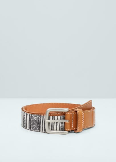 Ethnic belt | MANGO MAN