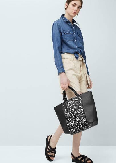 Fur panel bag | MANGO