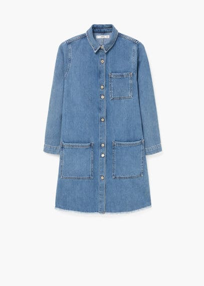 Robe denim poches | MANGO