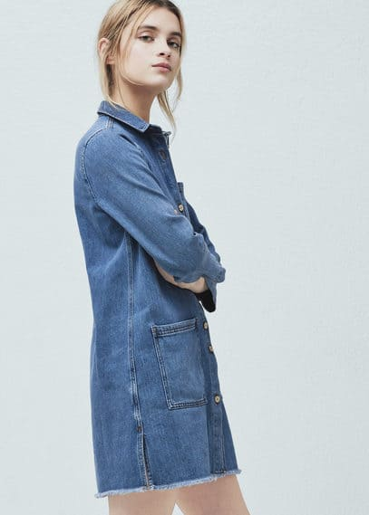 Pocket denim dress | MANGO