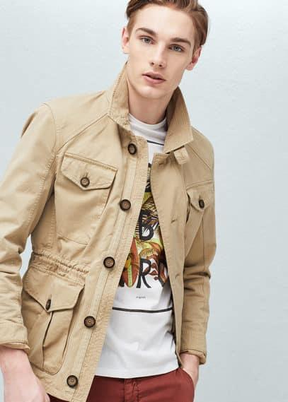 Cotton canvas field jacket | MANGO MAN