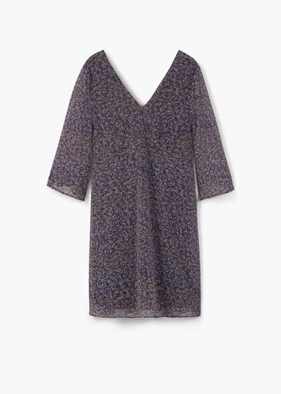 Flowy printed dress | MANGO