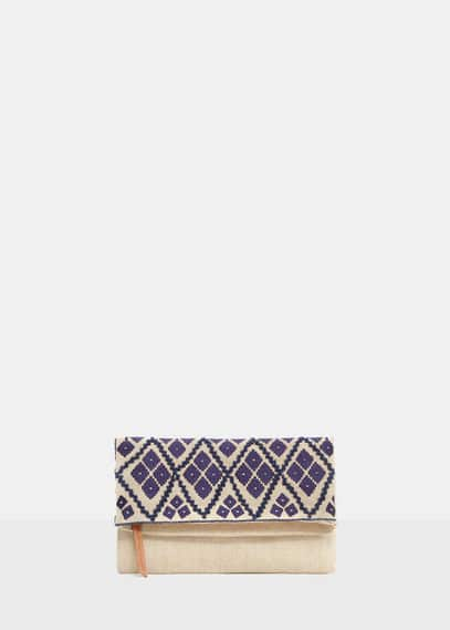 Embroidered envelope bag | VIOLETA BY MANGO