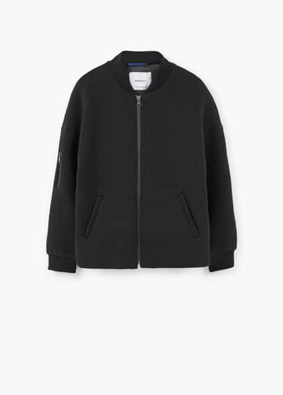 Pocket cotton bomber jacket | MANGO