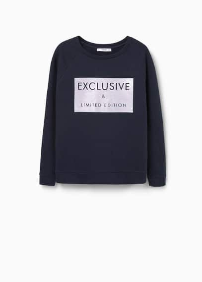 Sweat-shirt coton imprimé | MANGO
