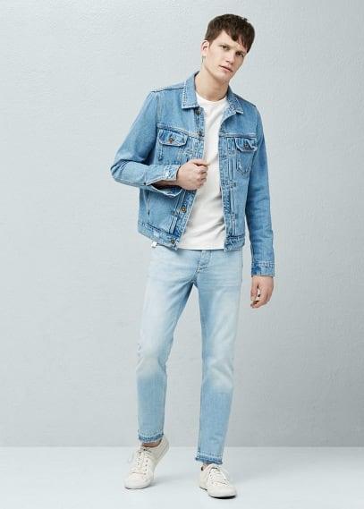 Jeans rick slim-fit lavado claro | MANGO MAN