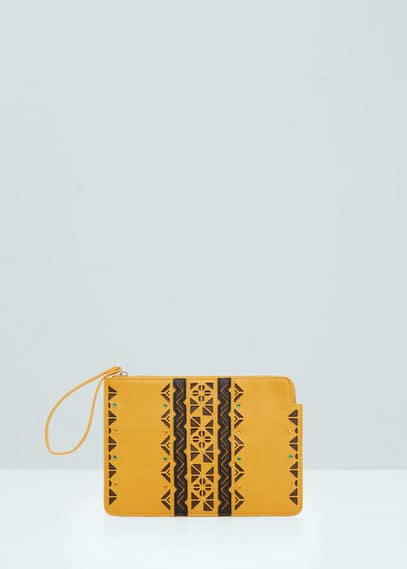 Perforated panel clutch | MANGO