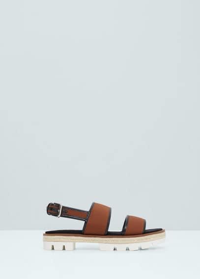 Sandales lanières larges | MANGO