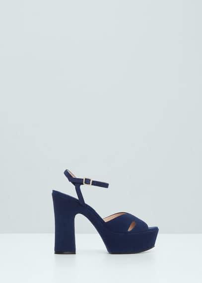Platform suede sandals | MANGO