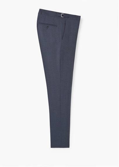 Glencheck-anzughose aus woll-mix | MANGO MAN