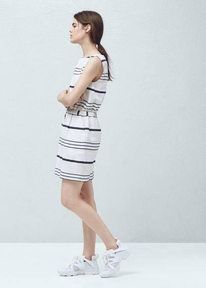 Striped cotton dress | MANGO